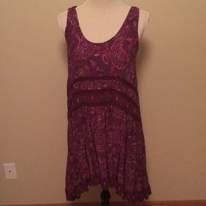 Purple with a touch of blue sleeveless dress